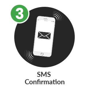 Step3 to deposit by phone bill in mFortune Pay by Phone Casino: SMS Confirmation