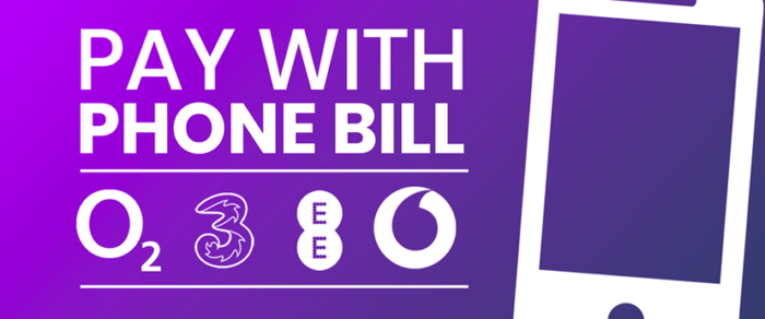 Pay with Phone Bill - O2, 3, EE, Vodafone