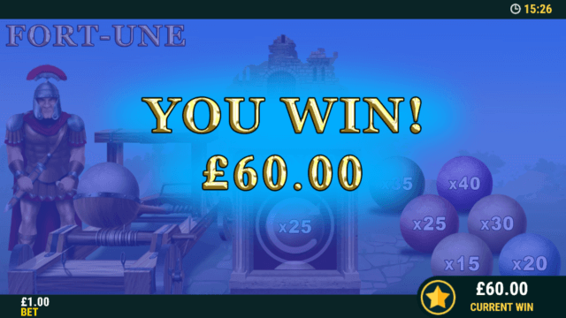 Winning in Coliseum Cash online slots mini game