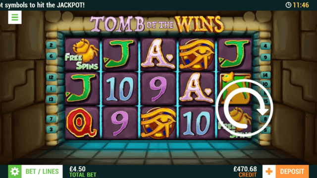 Tomb of the Wins - In game Screenshot