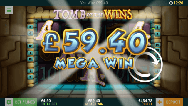 Tomb of the Wins - In game Screenshot - £59.4 Mega Win