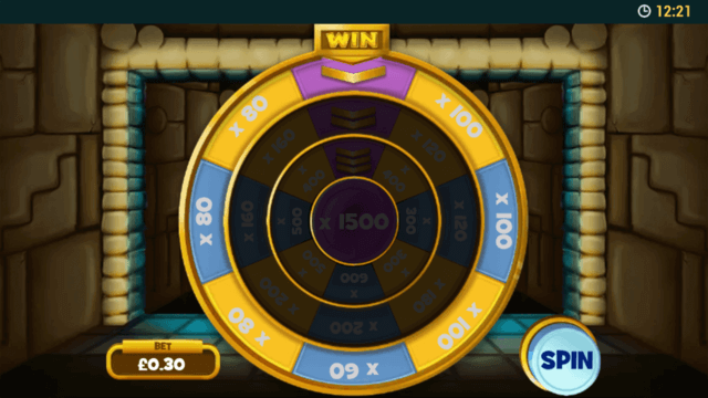 Tomb of the Wins - In game screenshot - mini game spin