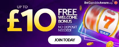 mfortune Casino Up to £10 Free Welcome Bonus, No deposit needed!