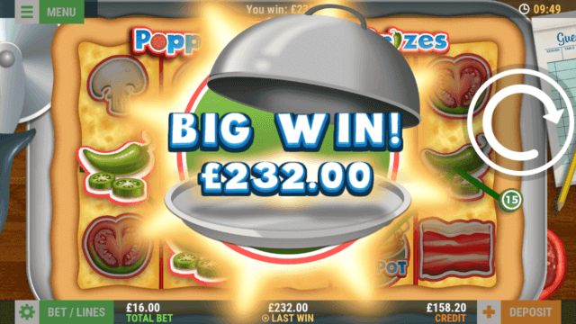 Poppin' Pizza Prizes mobile slots