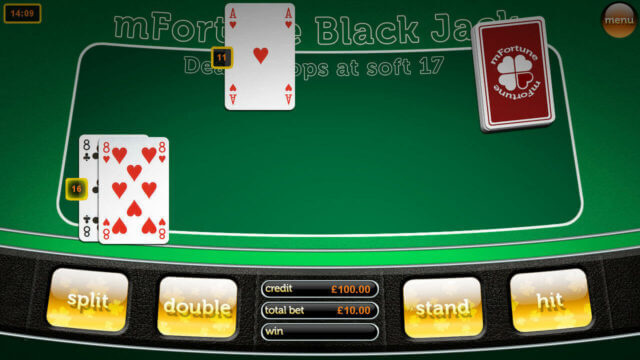 Blackjack by mFortune Casino game