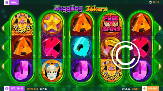 Juggling Jokers mobile slots game image at mfortune Casino