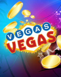 Vegas Vegas mobile slots by mfortune logo