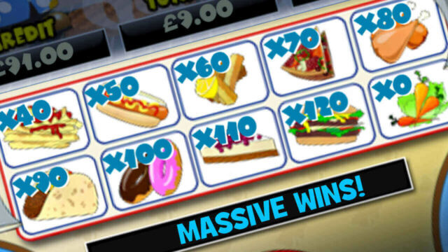 Burger Man mobile slots mini-game