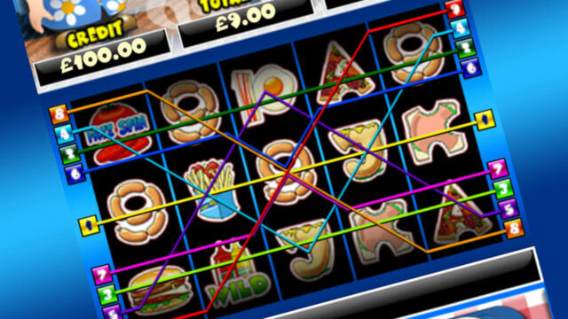 Burger Man mobile slots win lines