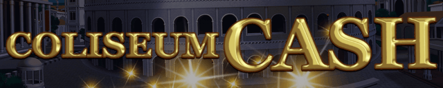 Coliseum Cash mobile slots by mFortune Casino game logo