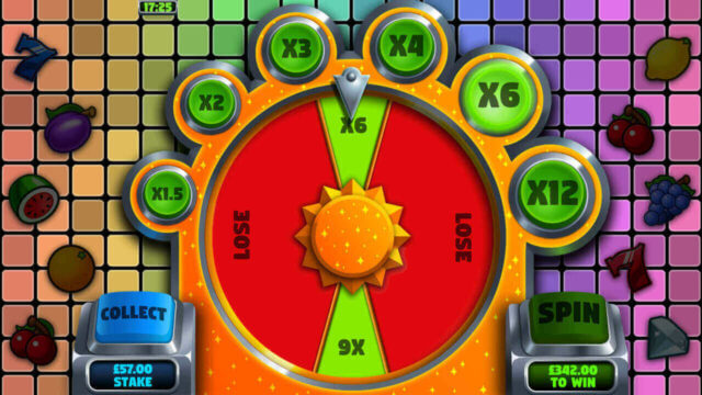 Reel Fruity Slots mobile slots by mFortune Casino Gamble Feature screenshot