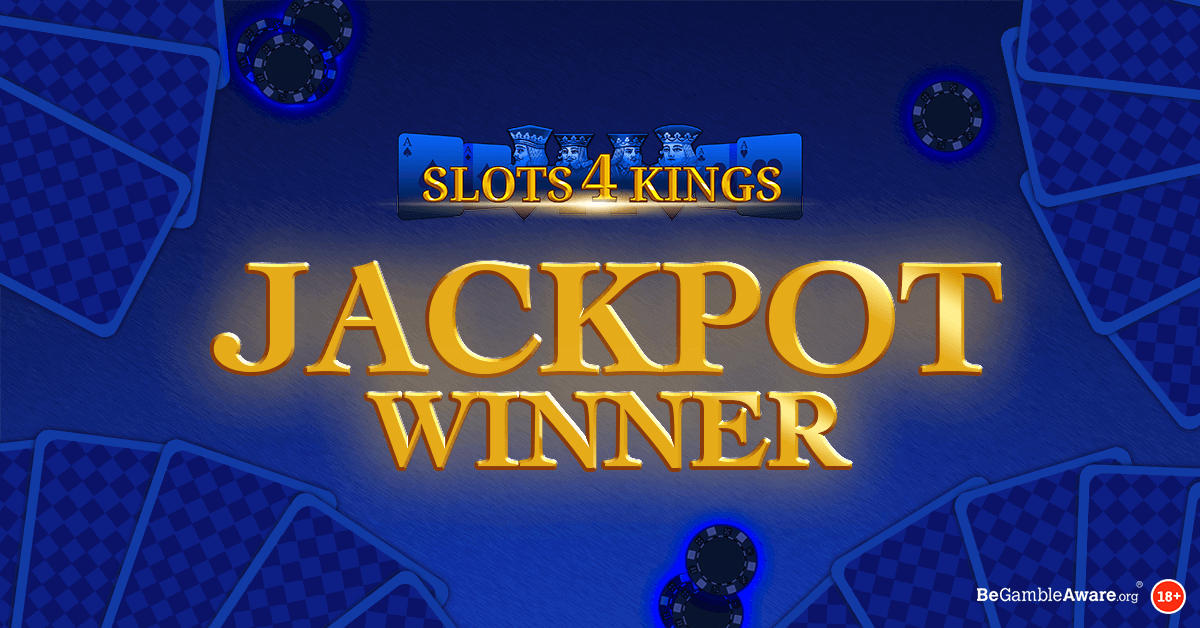 We Have a Slots 4 Kings Jackpot Winner!