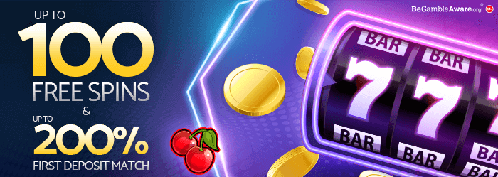 mfortune Casino First Deposit bonus - Up to 100 Free Spins & Up to 200% first Deposit Match Bonus