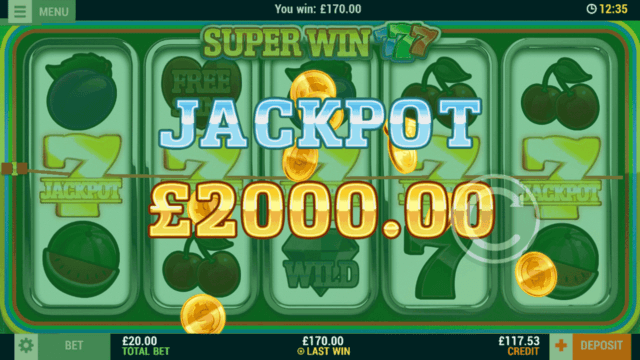 Super Win 7s (Mobile Slots) game image at mfortune Casino