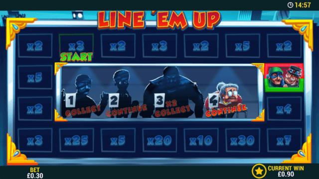 Line 'em Up - Online Slot - In game screenshot