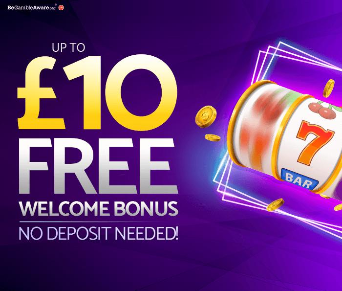 mfortune Casino Up to £10 Free Welcome Bonus and No Deposit Needed - Bonus & Promotion Page Banner