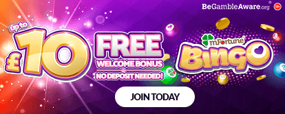 mfortune Casino Bingo - Up to £10 Free Welcome Bonus, No Deposit Needed!