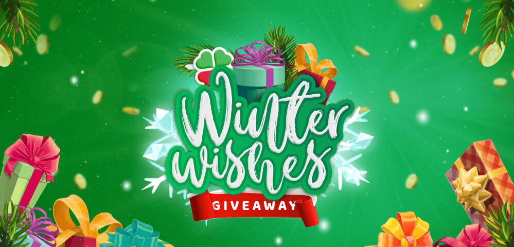 Win a share of 100,000 FREE SPINS plus BIG PRIZES in the Winter Wishes Prize Draw*