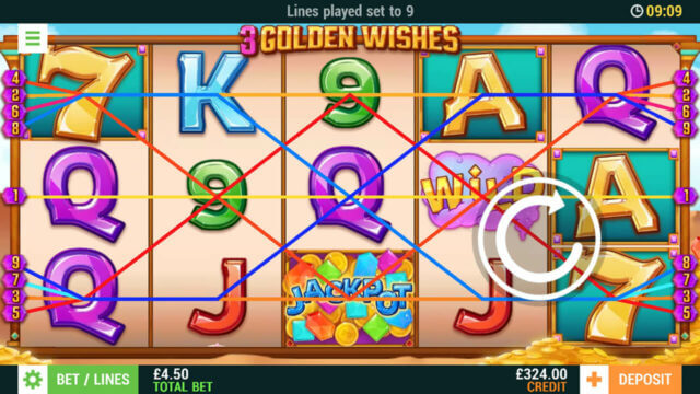 3 Golden Wishes (Mobile Slots) game image at mfortune Casino