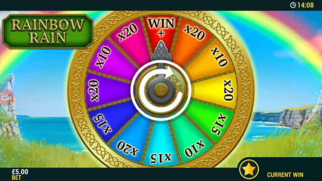 Mini game in Spin A Wheel O'Gold mobile slots