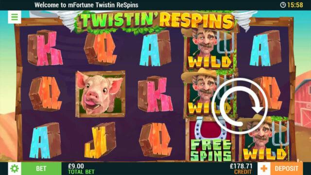 Twistin's Respins - Online Slot - In game screenshot - Mfortune