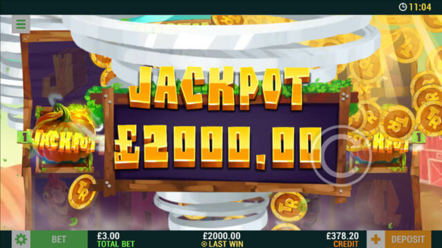 Twinstin Respins - Jackpot £2000 - In game screenshot -mfortune