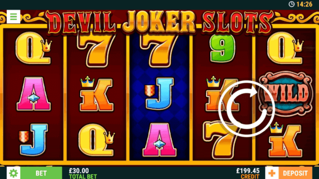 Playing Devil Joker Slots online slots at mFortune online casino