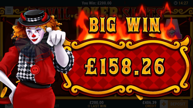 Big win in Devil Joker Slots online slots - mFortune online casino
