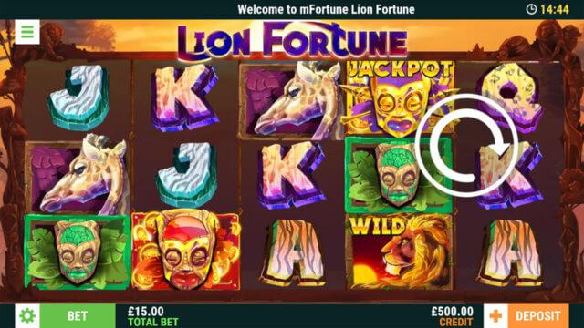 Lion Fortune - Online Slot - In game Screenshot - mForune