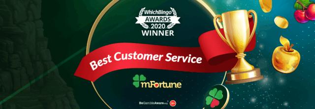 mFortune Win the Best Customer Service Casino at the WhichBingo Awards 2020!