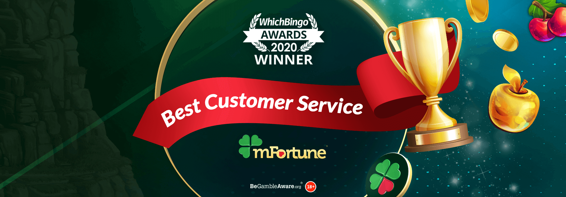 mFortune Win the Best Customer Service Casino at the WhichBingo Awards 2020!
