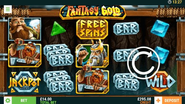Fantasy Gold online slots at mFortune Casino - in game screenshot