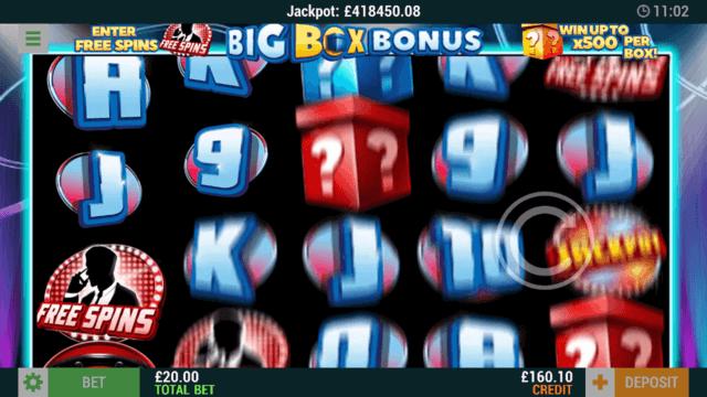 Big Box Bonus online slots in-game screenshot - mFortune Casino