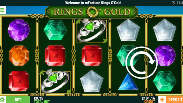 Rings O' Gold online slots in game screenshot