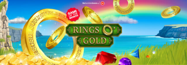Pots of gold could be won on mFortune's Rings O' Gold online slots!