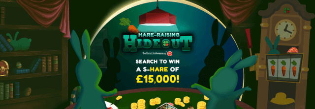 The search is on in the Hare-raising Hideout with mFortune this Easter!