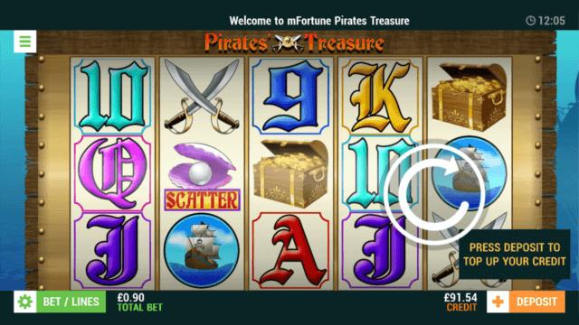 Pirates Treasure - In game screenshot