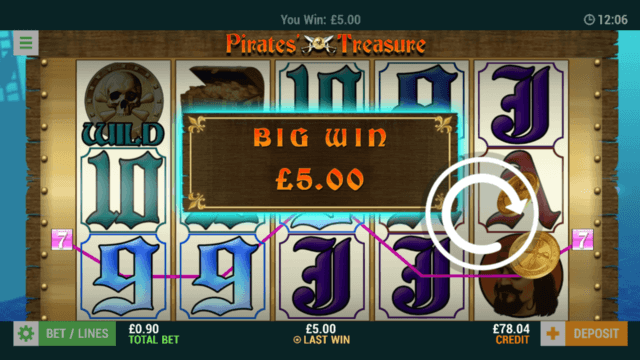 Pirates Treasure - Big Win £5 - Online Slot