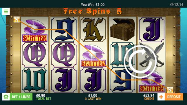 Pirates Treasure - Online Slot - In game screenshot