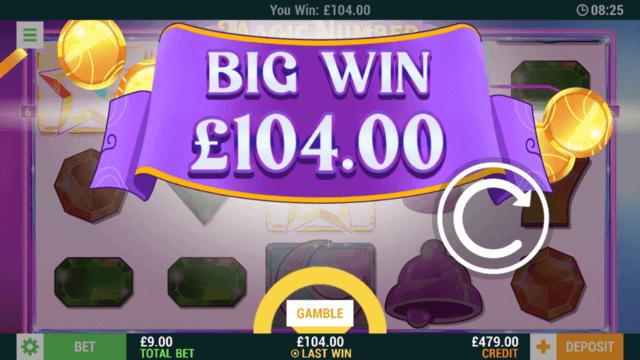 The Magic Number - In game Screenshot - Big Win £104