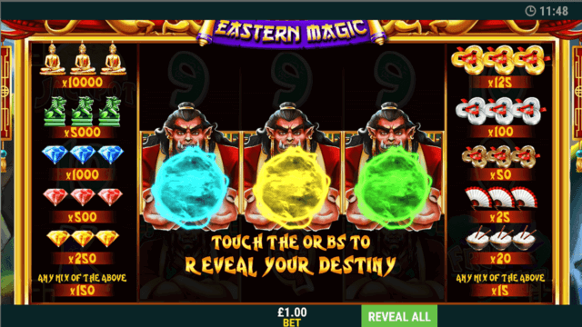 Eastern Magic - In Game Screenshot - Touch the OR BS to reveal