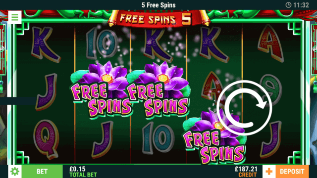 Free Spins 5 - 5 Free Spins - In game Screenshot